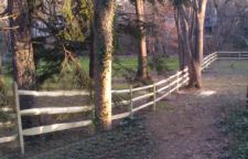 Wooden Ranch Style Fence